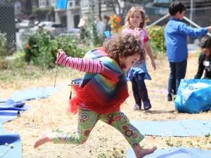 Homestead Skillshare Festival, Girl Jumping